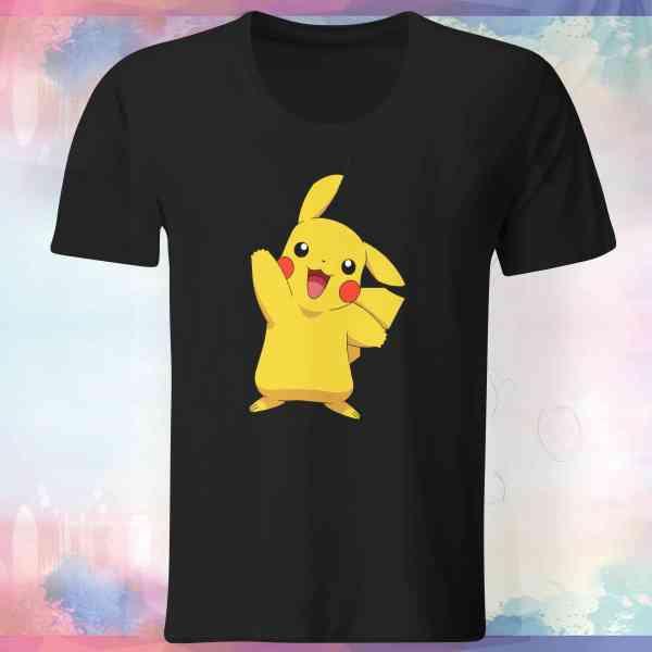 """Pokemon Go Shirt """"Pikachu #4"""" mit Trainer Name und Code"""