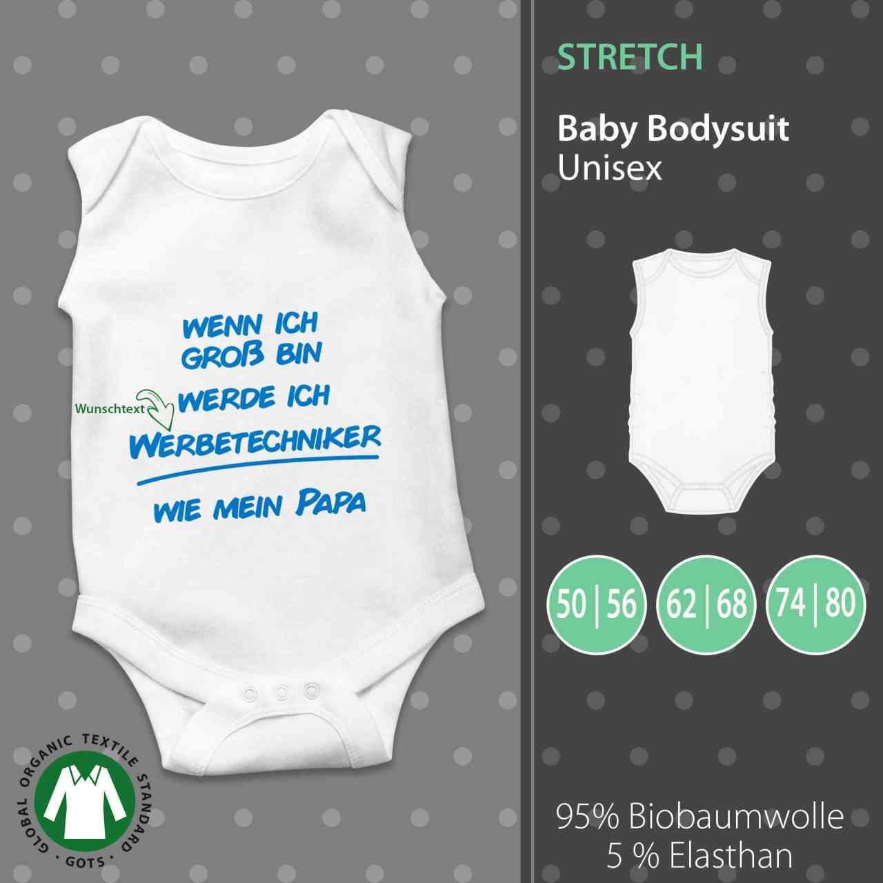 Baby Body Unisex | Wenn ich Groß bin werde ich ___ wie Papa/Mama | Wunschtext | individuell