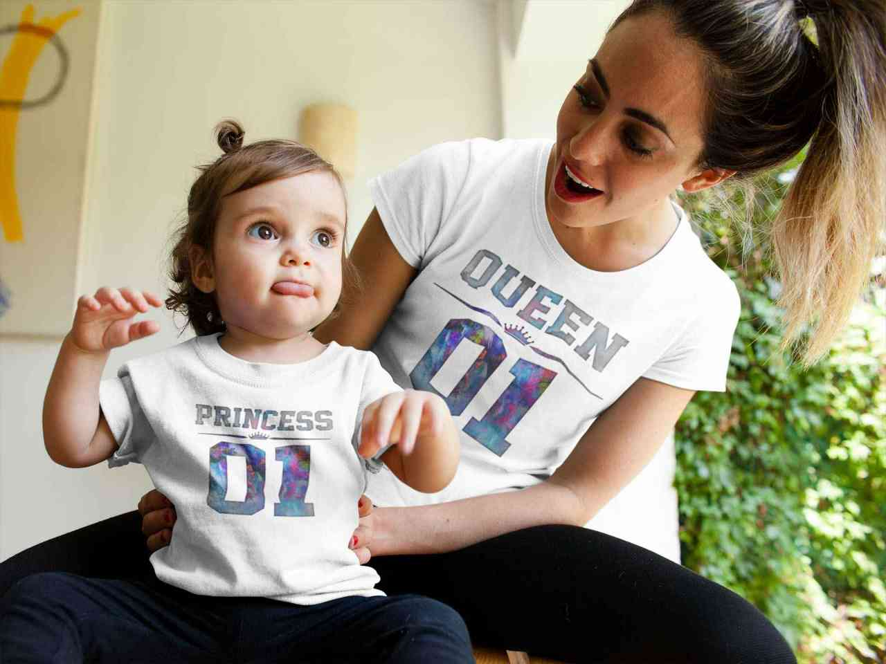 Queen & Princess Partnerlook T-Shirt Set | Mama Tochter Partnerlook