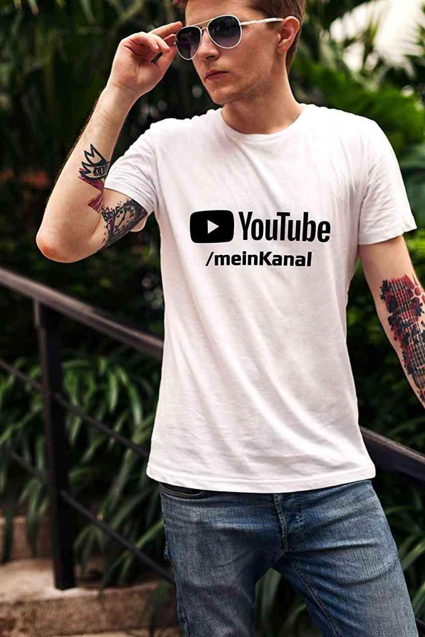 Youtube T-Shirt mit Channel-Name | T-Shirt | Männer oder Frauen (Unisex) | E-Sports - Gamer
