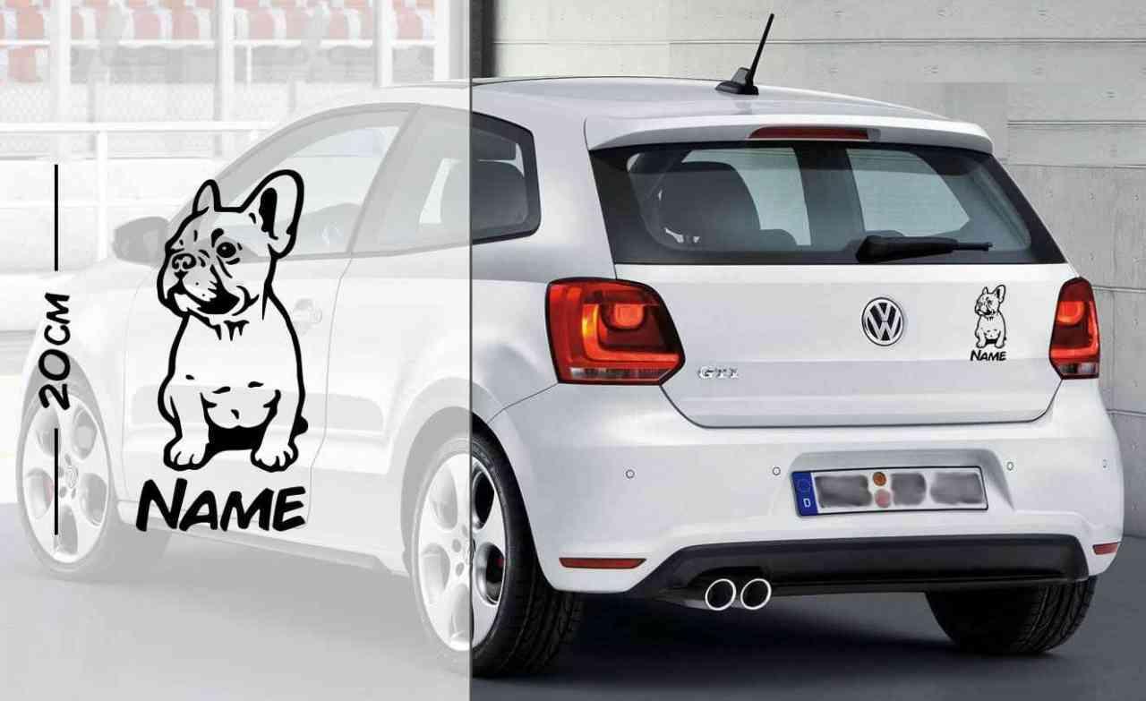 Bulldog | Hunde Aufkleber | mit Name | Autoaufkleber | coole Aufkleber | lustige | Wunschtext