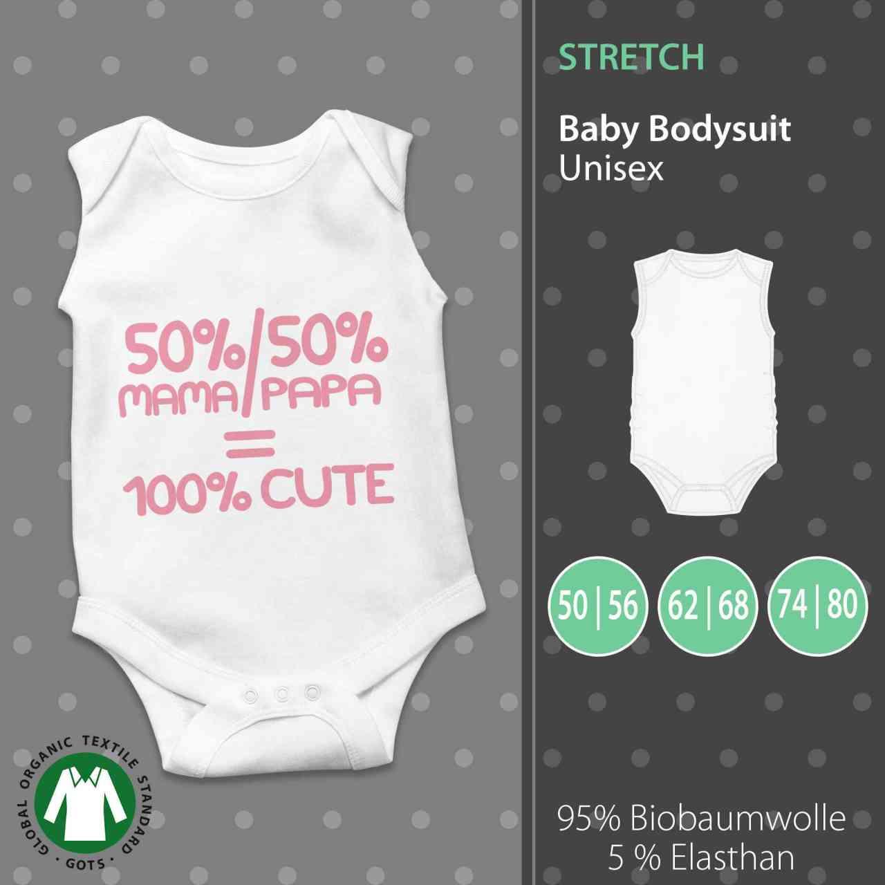 Baby Body Unisex | 50% Mama + 50% Papa = 100% Cute | pickNstick