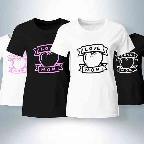 ❤ Love Mom ❤ - Muttertag T-Shirt   Mama - Mother - Mutter Shirt