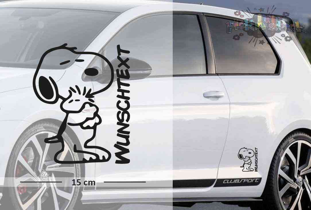 Snoopy #1 | Baby - Name On Board | Wunschtext | Autoaufkleber | Lustig | Baby On Board