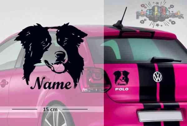 Border Collie #1 | Tier | Wunschtext | Autoaufkleber | Hund