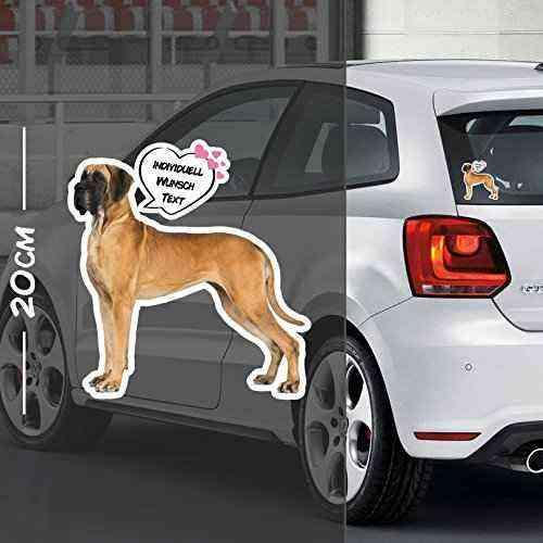 Hunde Aufkleber Motiv #7   Druck & Cut mit oder ohne Laminat   Individuell mit Wunschtext