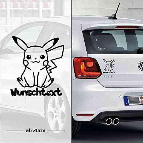 Pikachu (Pokemon) | Wunschtext | Auto Aufkleber | Baby on Board