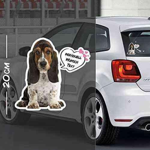 Hunde Aufkleber Motiv #2   Druck & Cut mit oder ohne Laminat   Individuell mit Wunschtext