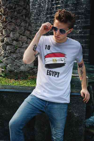 Egypt   Ägypten   Männer/Frauen Trikot/T-Shirt mit Nummer + Name   WM 2018