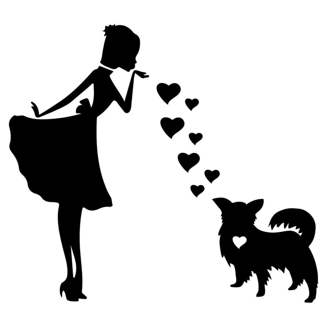 Prinzessin Zwergspaniel Papillon Herz | Hund | Wunschtext | Autoaufkleber | Decal